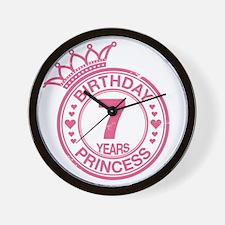 Birthday Princess 7 years Wall Clock