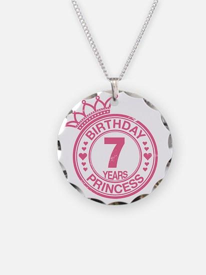 Birthday Princess 7 years Necklace