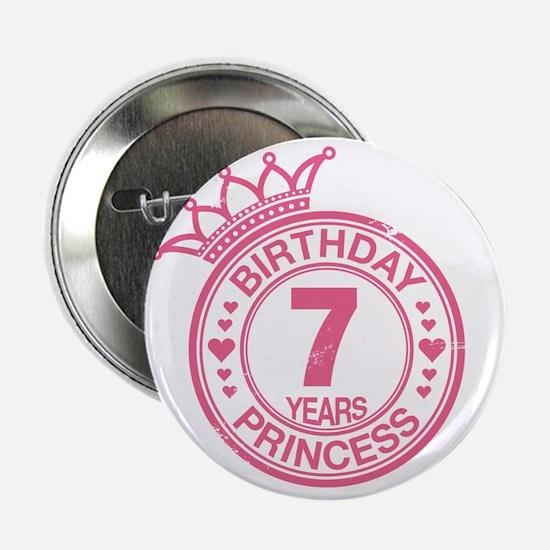 "Birthday Princess 7 years 2.25"" Button"