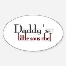 Daddy's Sous Chef Sticker (Oval)