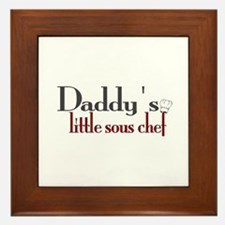 Daddy's Sous Chef Framed Tile