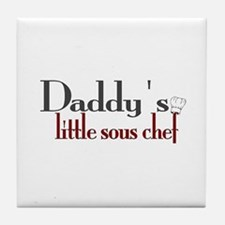Daddy's Sous Chef Tile Coaster