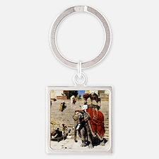 Edwin Lord Weeks Royal Elephant Square Keychain