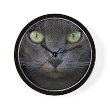 Bkack cat face Wall Clock