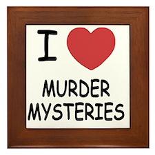 I heart murder mysteries Framed Tile