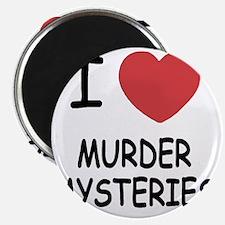 I heart murder mysteries Magnet