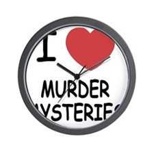I heart murder mysteries Wall Clock