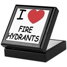 I heart fire hydrants Keepsake Box