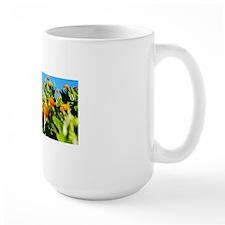 Field of orange flowers Mug