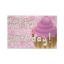 Happy Birthday Cupcake Rectangle Magnet