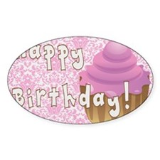 Happy Birthday Cupcake Decal