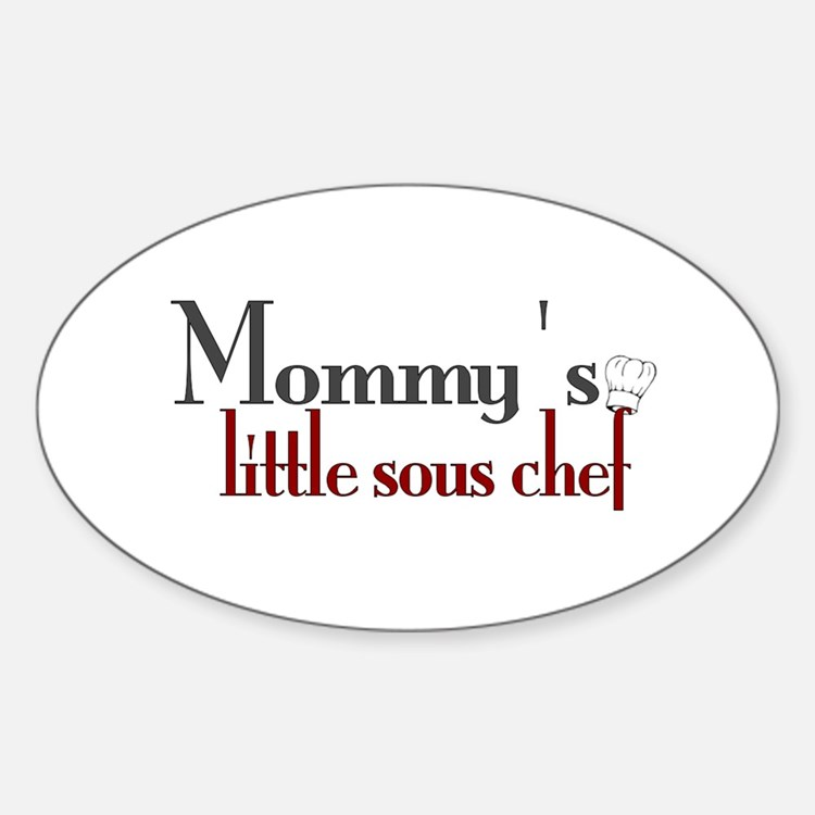 Mommy's Sous Chef Oval Decal