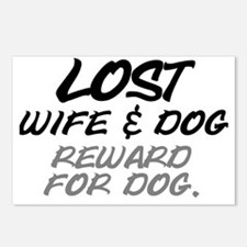 LOST. WIFE AND DOG - REWA Postcards (Package of 8)