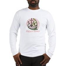 Happy Easter Cross Long Sleeve T-Shirt