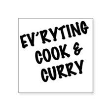 """Everyting Cook  Curry Square Sticker 3"""" x 3"""""""