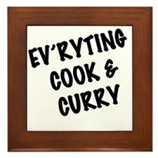 Everyting Cook  Curry Framed Tile