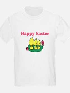 Happy Easter Chicks Kids T-Shirt
