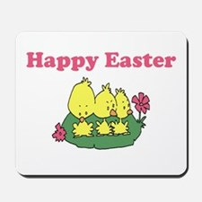 Happy Easter Chicks Mousepad