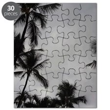 Palm Trees Sillouette Puzzle