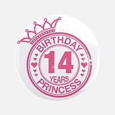 "Birthday Princess 14 years 3.5"" Button"