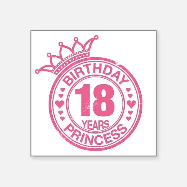 18Th Birthday Girl 18th Birthday Girl Stickers