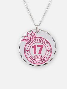 Birthday Princess 17 years Necklace