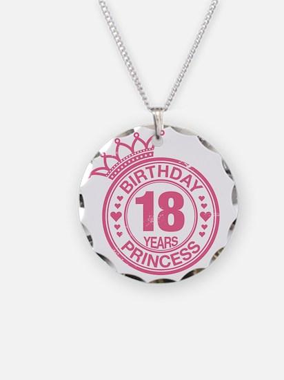 Birthday Princess 18 years Necklace