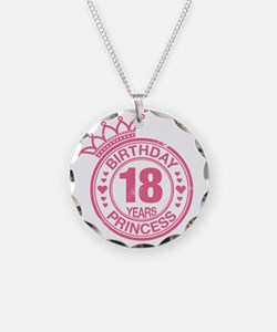 Birthday Princess 18 years Necklace Circle Charm