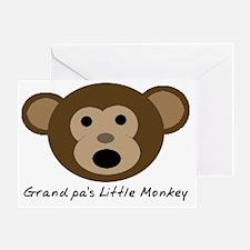 Grandpas Little Monkey Greeting Card