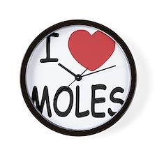 I heart moles Wall Clock