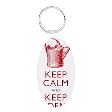 Keep Calm and Keep Gardenin Keychains