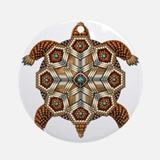 Native American Turtle 02 Round Ornament