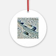 diamondback rattlesnake Round Ornament