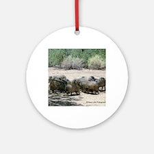 javelina - desert wild pigs Round Ornament