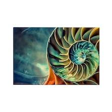 rainbow seashell Rectangle Magnet