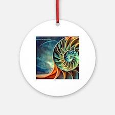 rainbow seashell Round Ornament