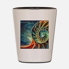 rainbow seashell Shot Glass