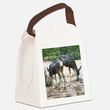 whitetail deer family Canvas Lunch Bag