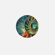 rainbow seashell Mini Button
