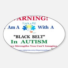 Black Belt S.M.A.A.R.T.Mom Sticker (Oval)