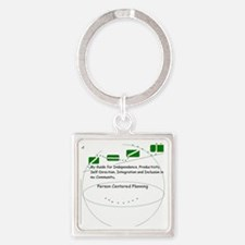 Person Centered Planning Square Keychain