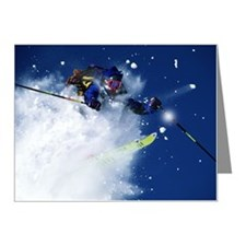 DOWNHILL SKIING IN ASPEN, CO Note Cards (Pk of 10)