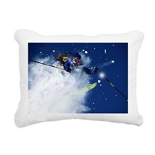 DOWNHILL SKIING IN ASPEN Rectangular Canvas Pillow