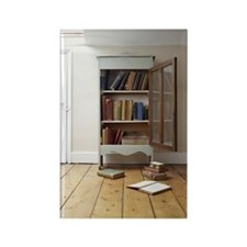 Cupboard full of books. Rectangle Magnet