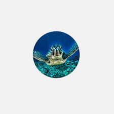 aquatic sea turtle Mini Button