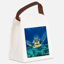 aquatic sea turtle Canvas Lunch Bag