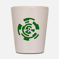 Freehand Concentric Circle Vectors Shot Glass