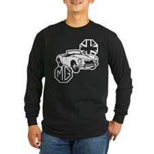 MG MGA Classic British Sports Car Long Sleeve T-Sh