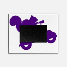 Purple Squirrel on Scooter Picture Frame