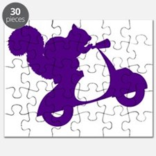 Purple Squirrel on Scooter Puzzle
